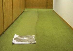 Teppichboden - vorher und nachher