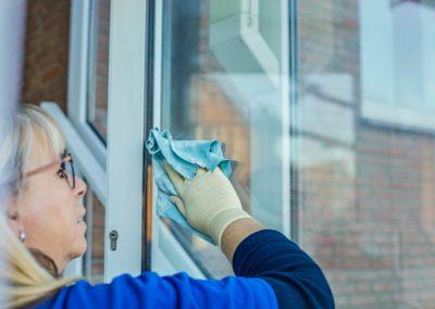Professionelle Reinigung der Fenster